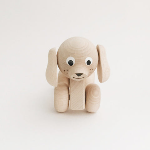 Wooden Animals on Wheels - Puppy - Andnest.com
