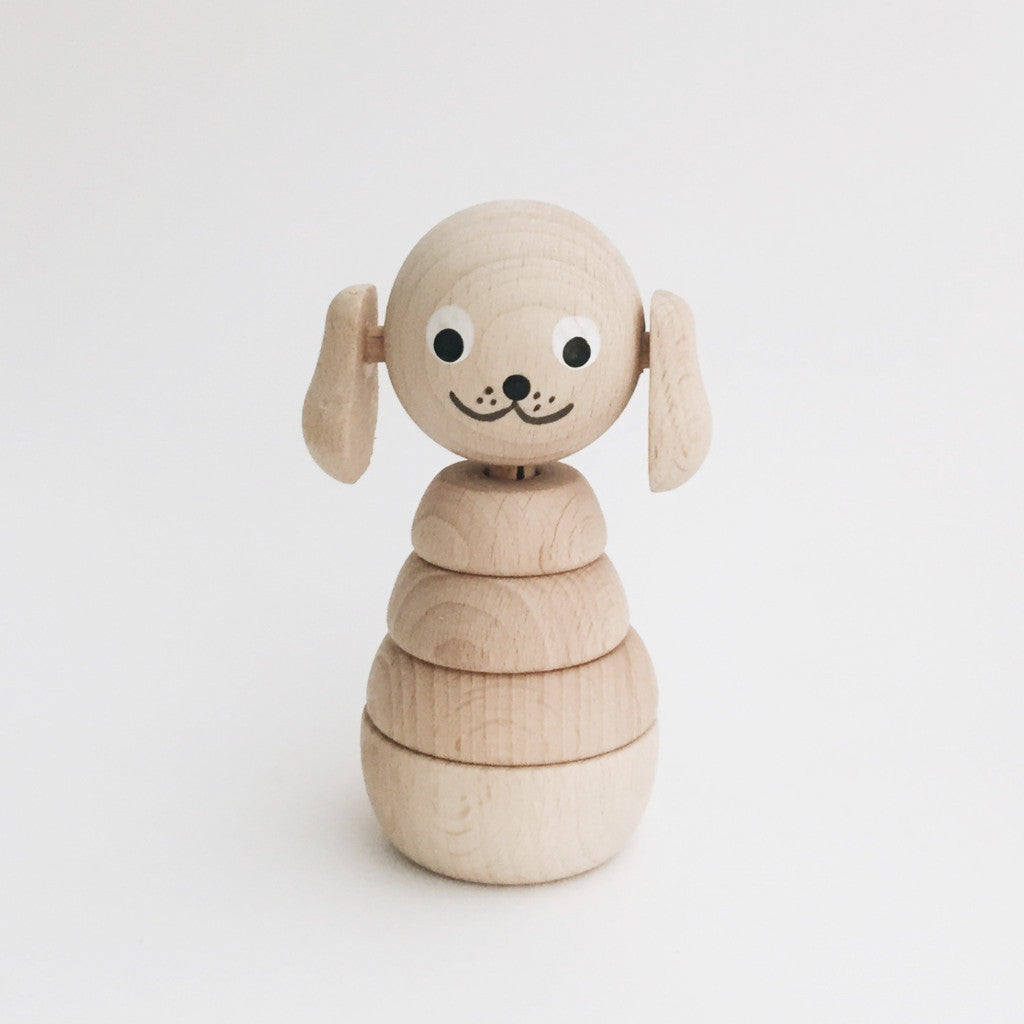 Wooden Stackable Animals - Puppy - Andnest.com