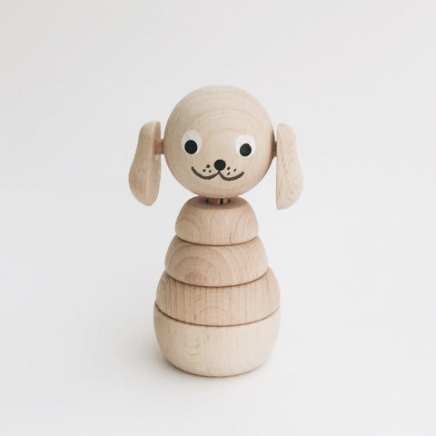 Wooden Stackable Animals - Puppy - Andnest