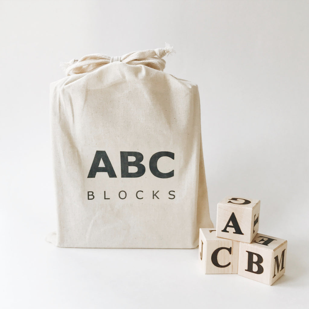Wooden Alphabet ABC Blocks - Andnest.com