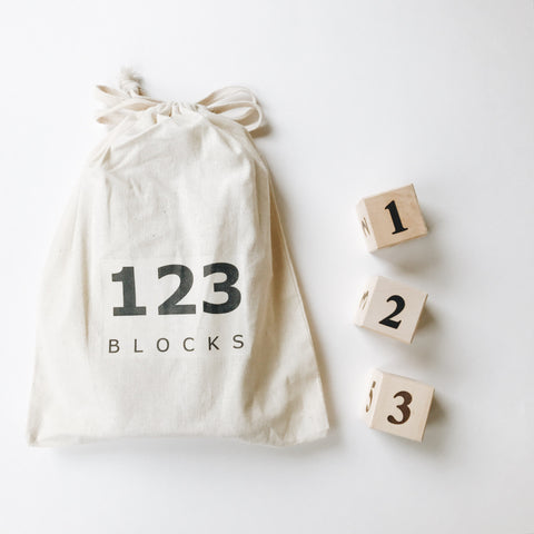 Wooden Number Blocks - Andnest