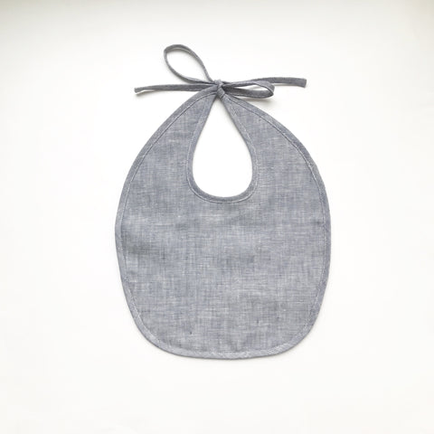 Linen & Organic Cotton Bib - Indigo or Natural - Andnest