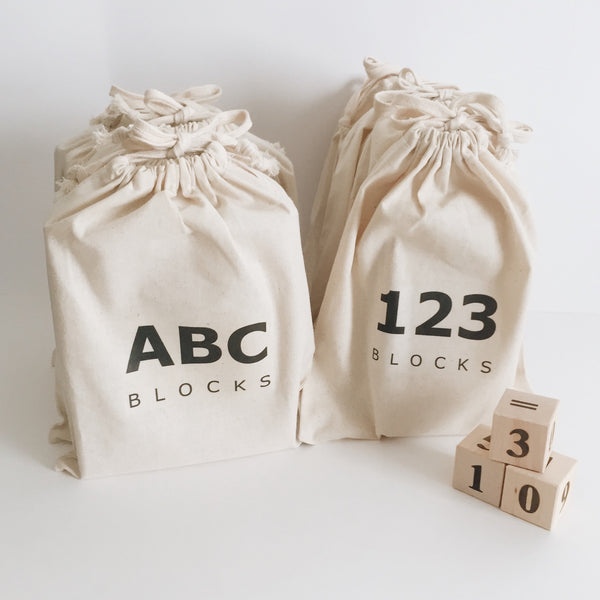 Wooden Alphabet and Number Blocks - Andnest