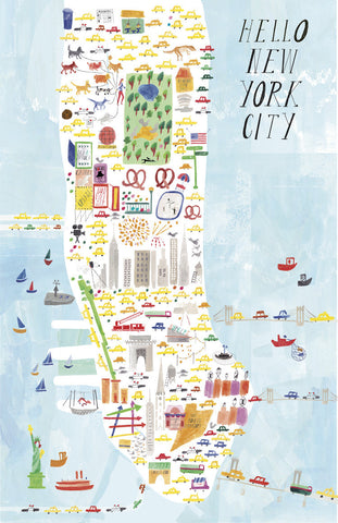 City Art Print - New York, Chicago, Los Angeles, San Francisco - Andnest