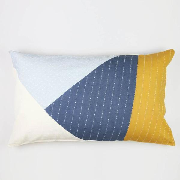 Color Block Lumbar Pillow Cover - Andnest.com
