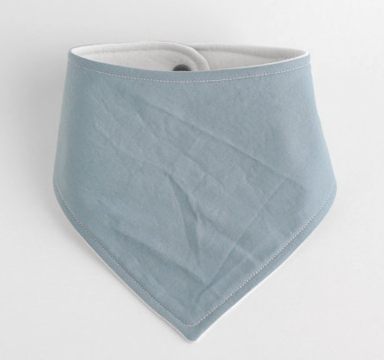 Organic Cotton Bandana Bib - Steel Blue, Cream, or Rose - Andnest