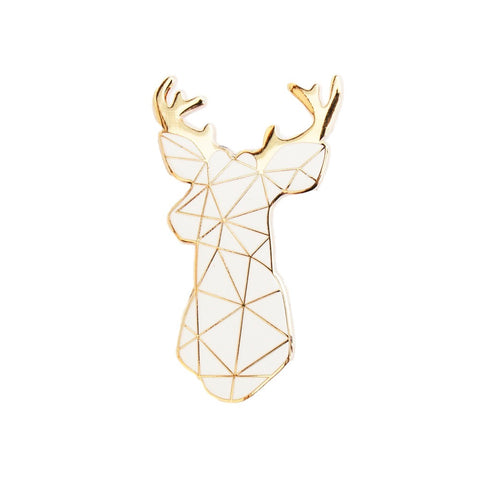White Stag Brooch - Andnest