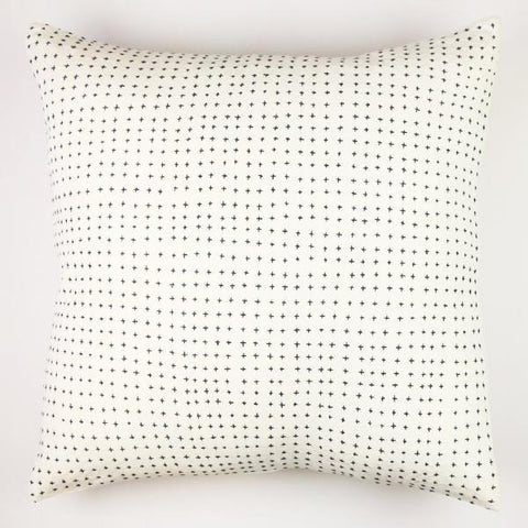 Embroidered cross pillow cover with gold zipper 22