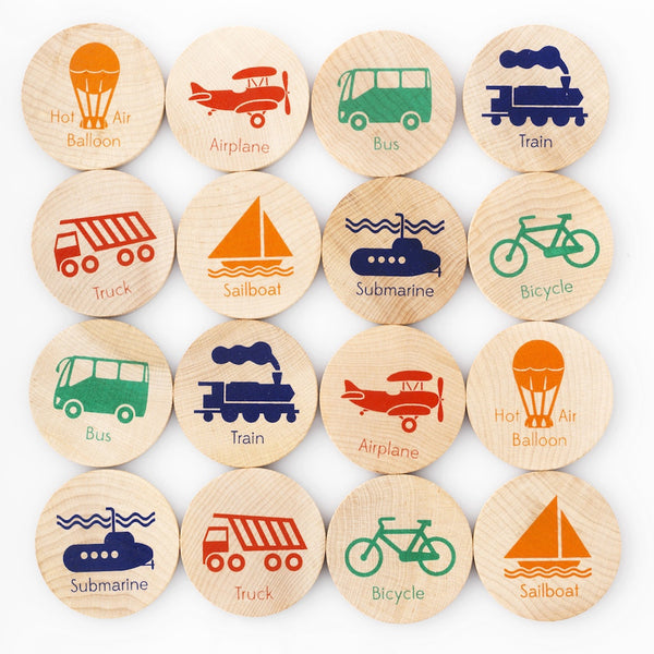 Transportation Memory and Matching Game - Andnest