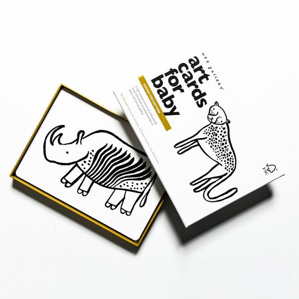 Baby Art Cards - Safari - Andnest.com