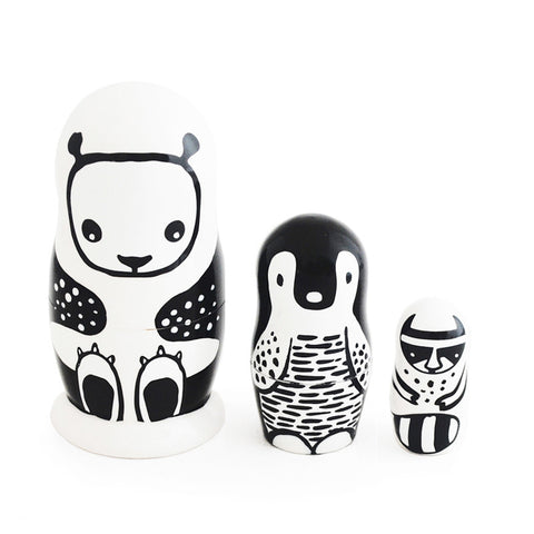 Modern Nesting Dolls - Animal Friends - Andnest