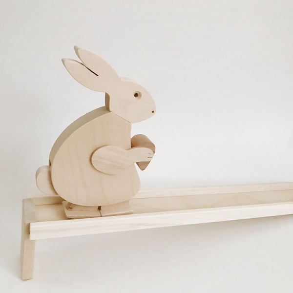 Wooden Walking Bunny Toy