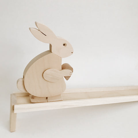 Wooden Walking Bunny Toy - Andnest.com