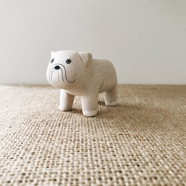 Wooden Animals - Bulldog - Andnest.com