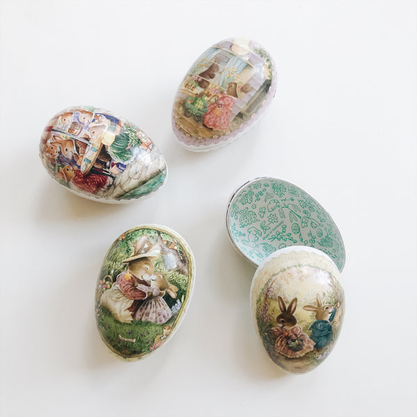 Paper Mache Easter Eggs Set of 4 - Small 3.5