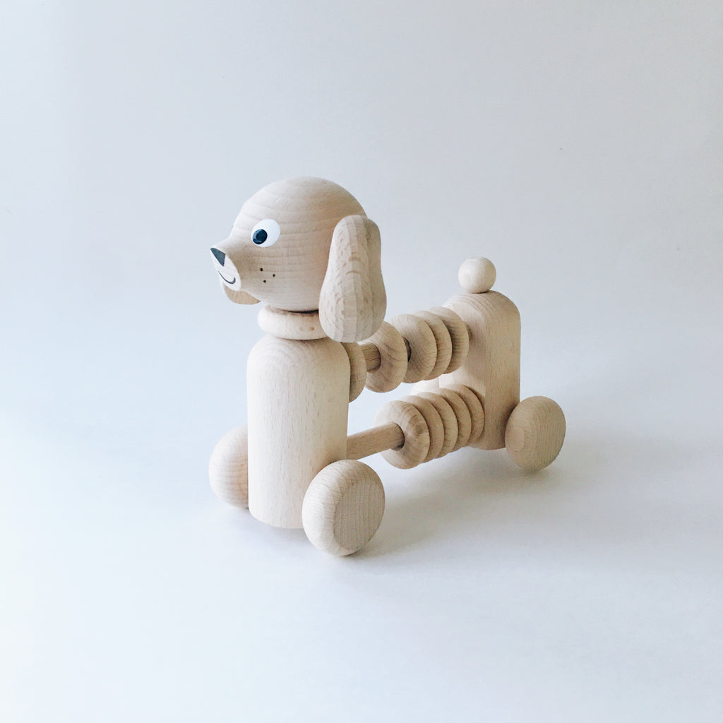 Wooden Dog Counter/Rattle - Andnest.com