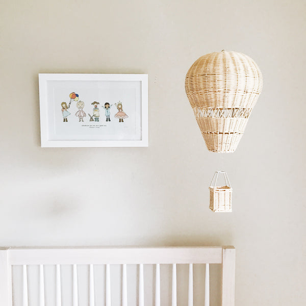 Rattan Hot Air Balloon Hanging - Andnest.com