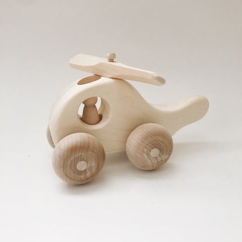 Helicopter Wooden Toy - Andnest.com