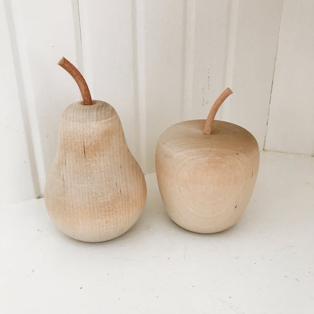 Wooden Apple and Pear