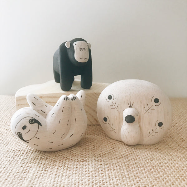 Wooden Animals - Sloth - Andnest.com