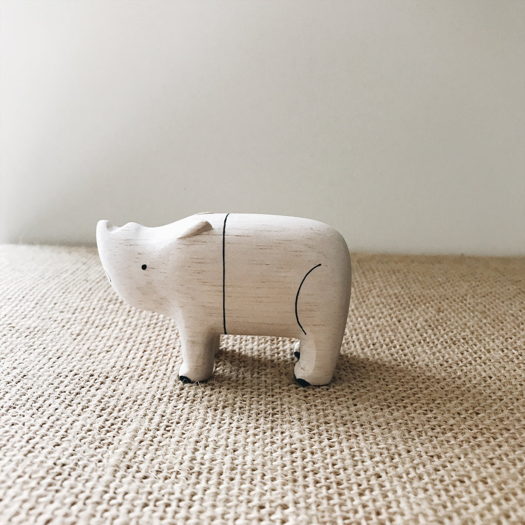 Wooden Animals - Rhinoceros - Andnest.com