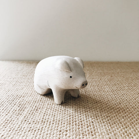 Wooden Animals - Pig - Andnest.com