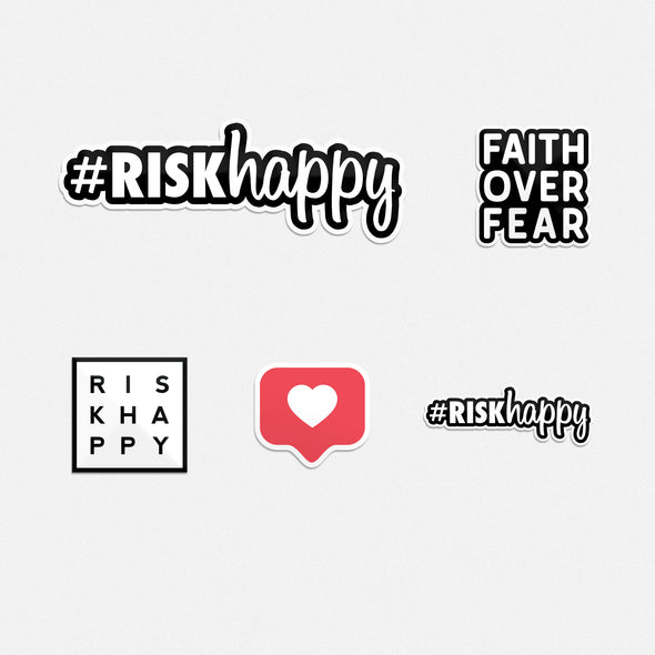 #riskhappy Sticker Pack