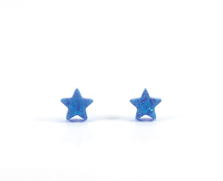star earrings gold stud studs in white