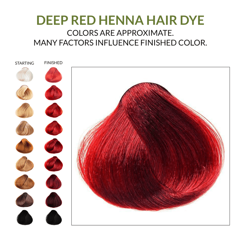 Deep Red Henna Hair Dye.