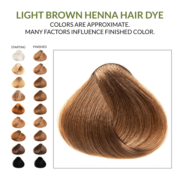 Light Brown Henna Hair Dye.