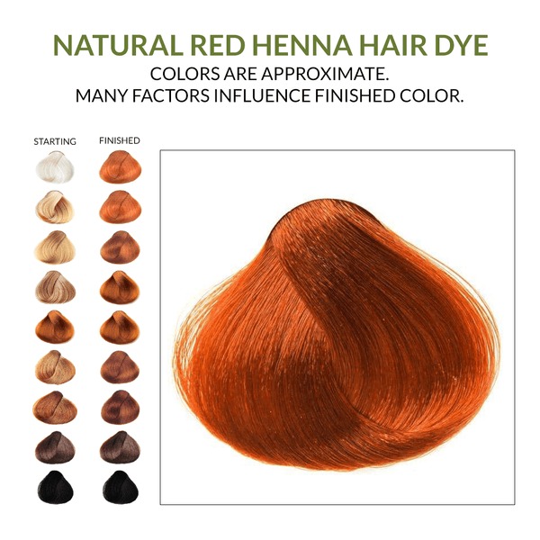Natural Red Henna Hair Dye.