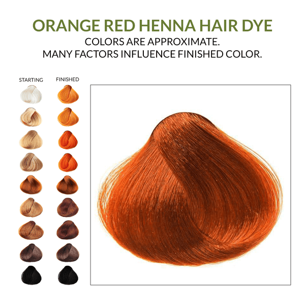 Orange Red Henna Hair Dye.