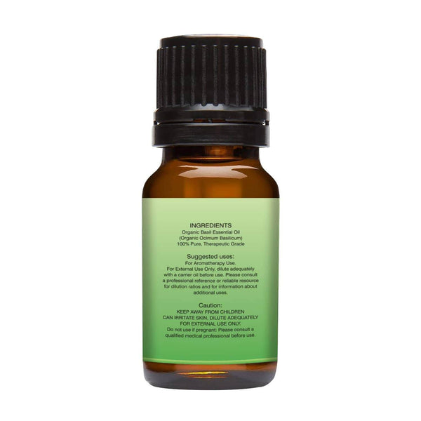 Organic Basil Essential Oil left back