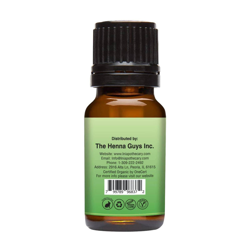 Organic Basil Essential Oil right back