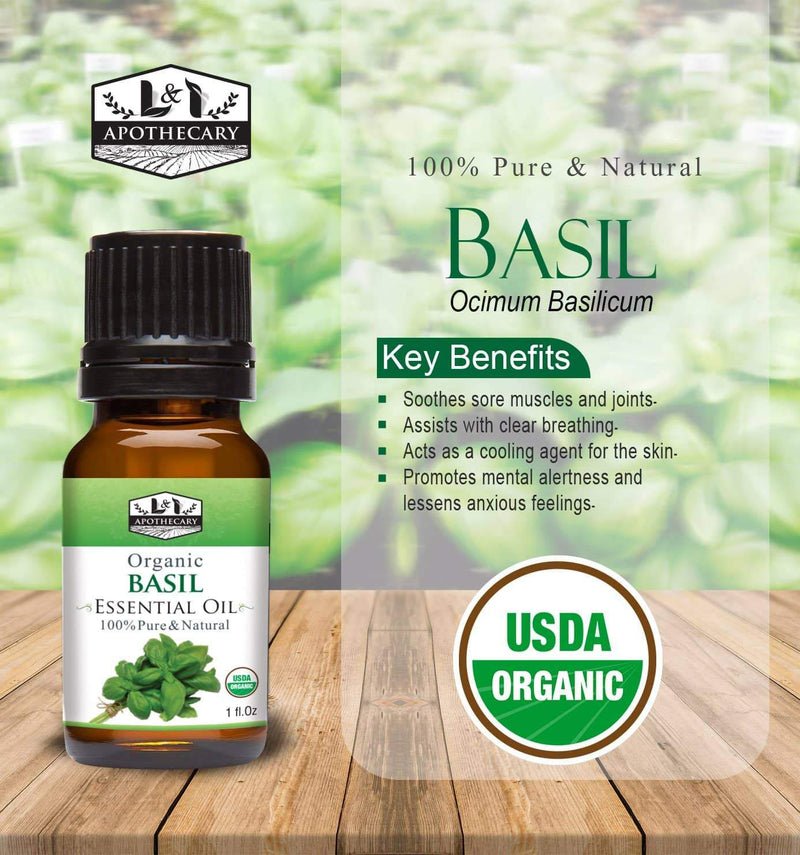 Organic Basil Essential Oil slide