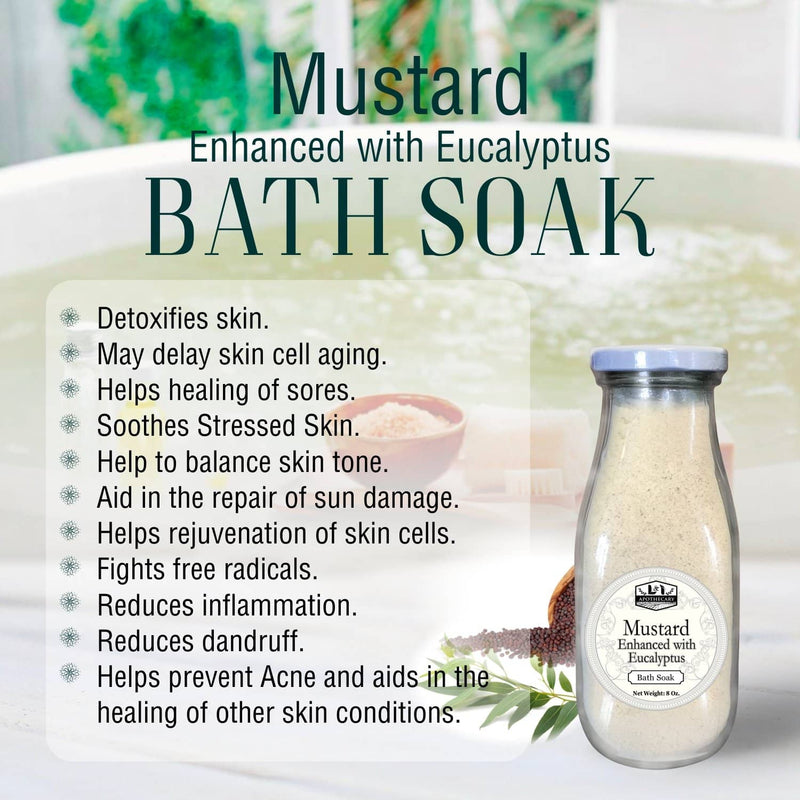 Mustard Body Soak Enhanced with Eucalyptus.