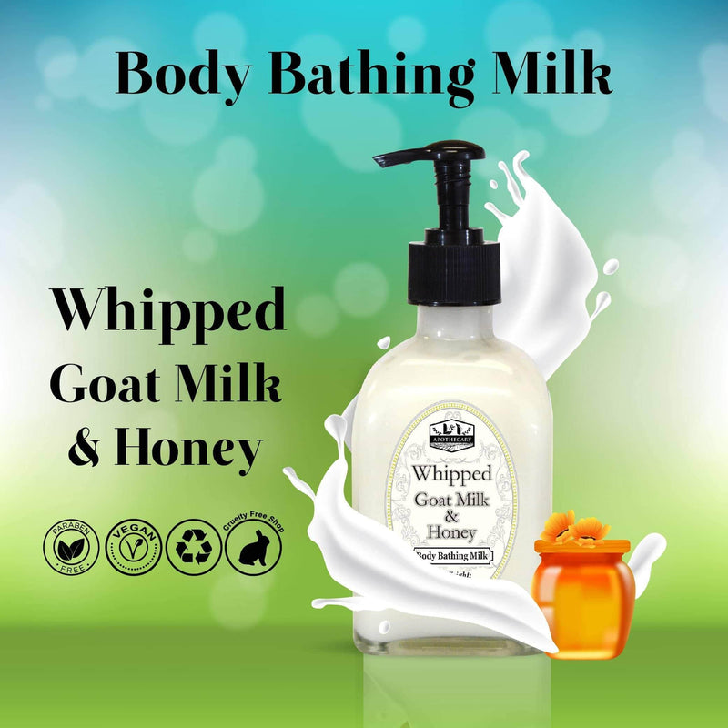 Luxurious Goat Milk & Honey Body Wash presentation