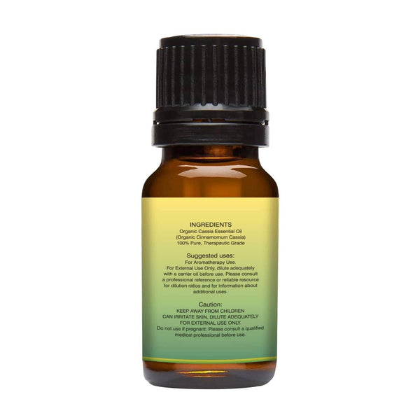 Organic Cassia Essential Oil left back