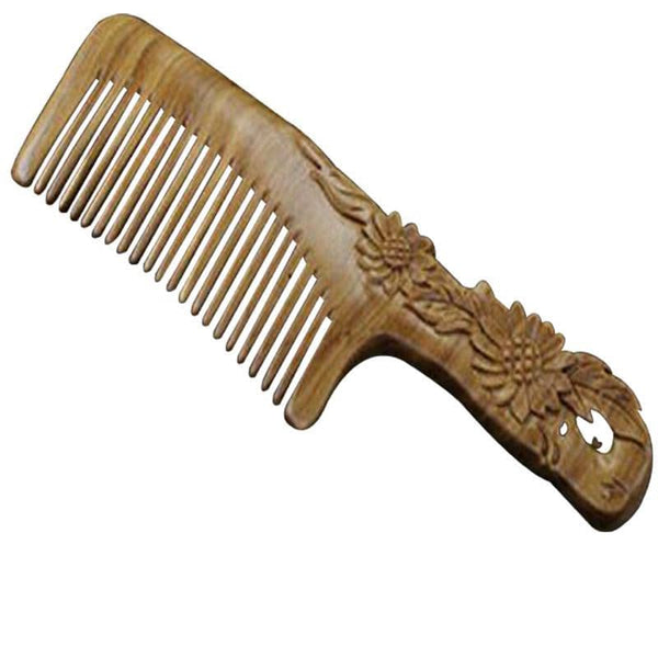 Sandalwood Green wood Comb
