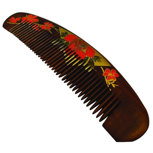 Chacate Preto Wood Curved Comb
