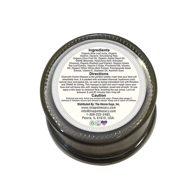 Charcoal Cream Masque back