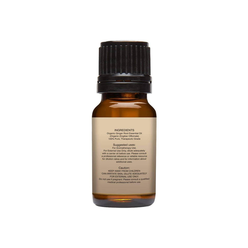 Organic Ginger Essential Oil left back