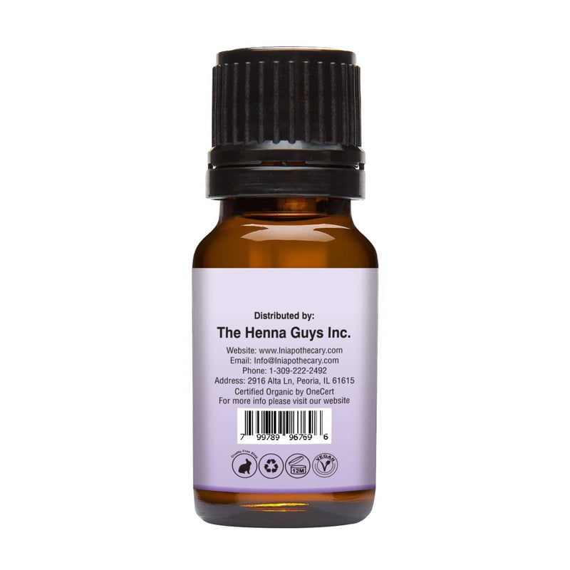 Organic Lavender Essential Oil right back