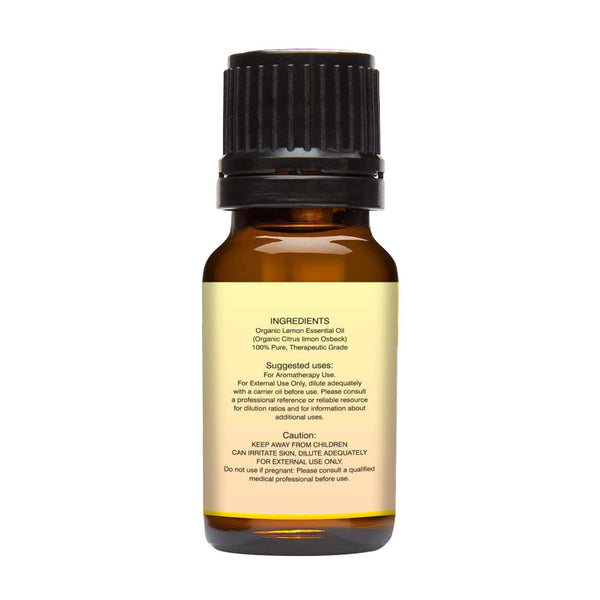 Organic Lemon Essential Oil left back