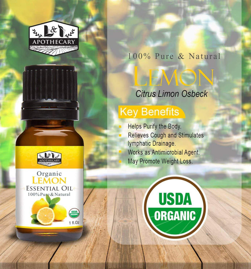 Organic Lemon Essential Oil.
