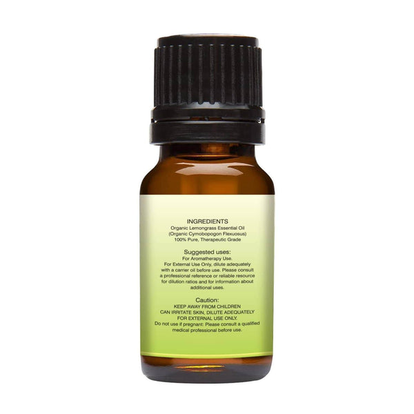 Organic Lemongrass Essential Oil left back