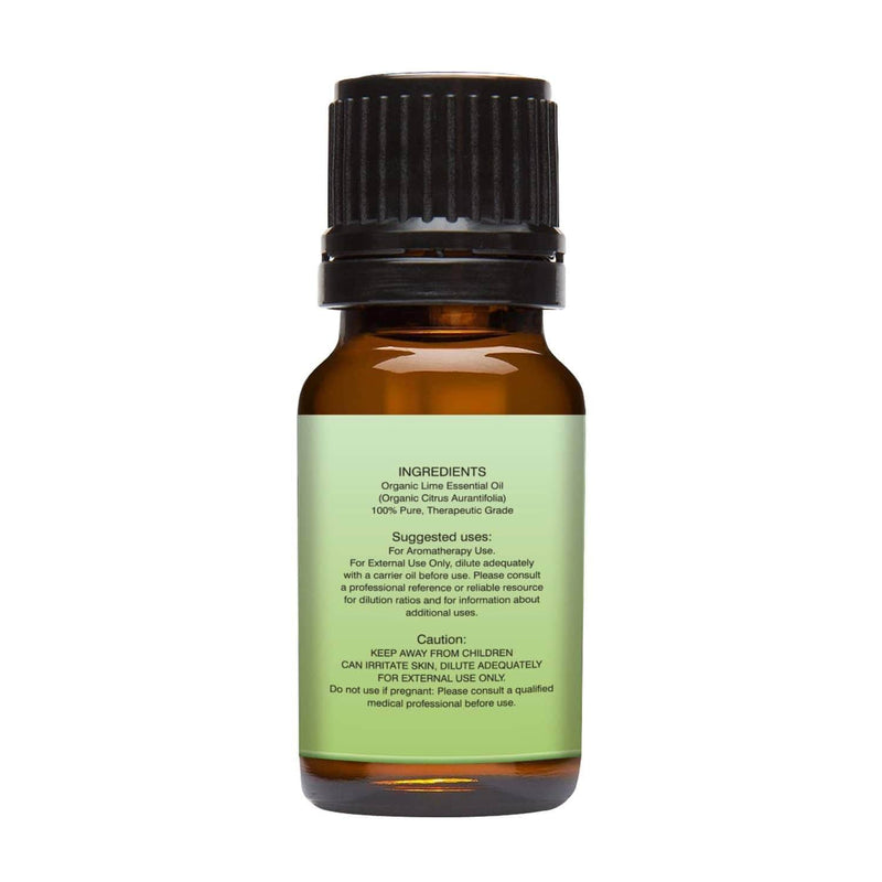 Organic Lime Essential Oil left back