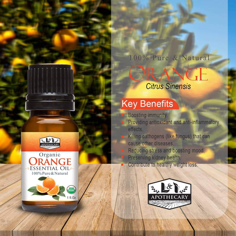 Organic Orange Essential Oil.