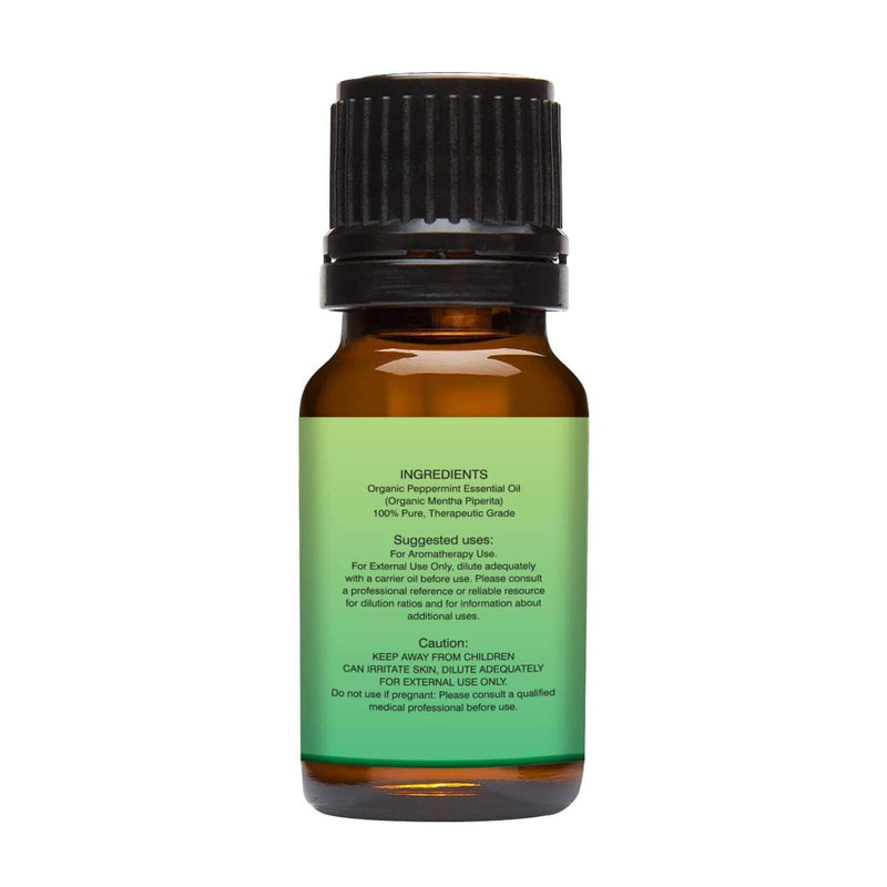 Organic Peppermint Essential Oil left back