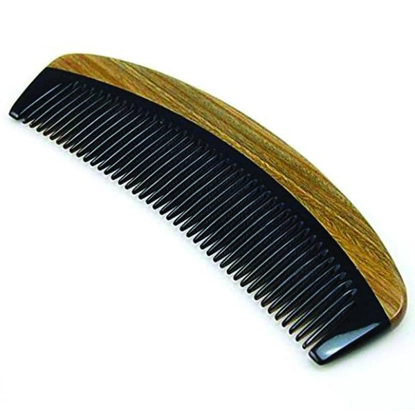 Sandalwood & OX Horn Curved Comb